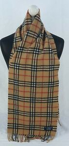 BURBERRY SCARF 100% LAMBSWOOL FOR MEN AND WOMEN MADE IN ENGLAND BEIGE TU
