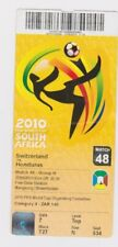 World Cup 2010 South Africa Used Ticket No. 48 Switzerland v Honduras Bloem