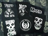 Misfits Crimson Ghost Fiend Club Canvas Back Patch Horror Punk Die My Darling