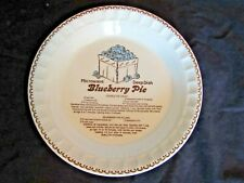 Vintage Jeannette Royal China Blueberry Pie Deep Dish Recipe Pie Plate/USA