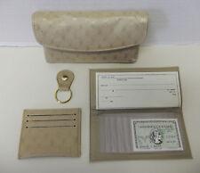 Elegant Golden Beige Envelope Clutch Handbag Wallet Purse
