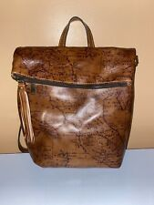 Patricia Nash Luzille Convertible Backpack Riot Rust Map New