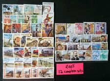 1CUBA 2005  GREAT LOT OF 12 COMPLETE SETS marti dinosaurs jewelry train USED/CTO