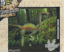 Ornithomimus Dinosaur 3D Wooden Model Kit Jurassic Jigsaw Puzzle