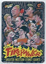 2015 Select Champions Firepower Caricature (AC9) GWS Check List