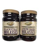 Golden Barrel Blackstrap Molasses & Supreme Baking Molasses, 16 Oz. Wide Mouth