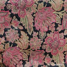 NEW! SALE! Designer Brocade Jacquard Fabric- Black Floral - Damask- Upholstery