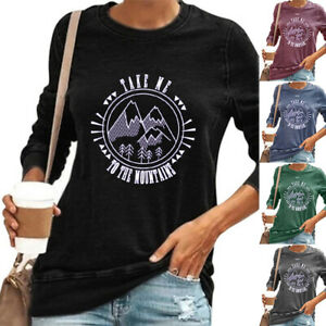 Plus Size Womens Sweatshirt Ladies Casual Pullover T Shirts Jumper Blouse Tops