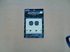 RadioShack 279-415 Dual Modular Jack Wth AC Outlet Plate