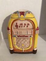 WURLITZER JUKEBOX COOKIE JAR CANISTER Treasure Craft Made in USA