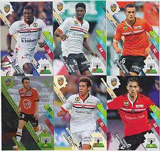 PANINI FOOTBALL 2014 2015 ADRENALYN CARDS LOT DE 6 CARDS GAME LORIENT