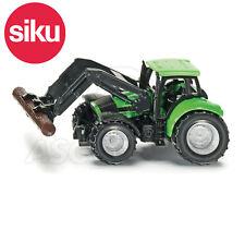 Siku NO.1380 1:87 Echelle Deutz Tracteur Avec Bois / Log Attrape Dicast Modèle /