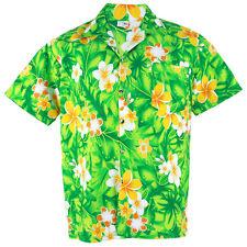 Hawaiian Shirt Aloha Cotton Plumeria Frangipani Beach Holiday Green XXL hg906t