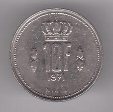 Lussemburgo 10 FRANCHI 1971 nichel Coin