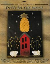 PRIMITIVE SHEEP BOOK WOOL PENNY RUG PIN CUSHION PILLOW DOLL PATTERNS  *NEW*