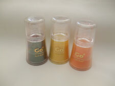 3 x Go Shimmer Eye Dust Pots Brown Orange And Yellow New