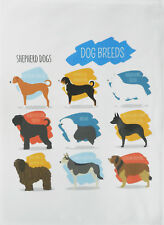 Breeds of Chicken - Large Cotton Tea Towel by Half a Donkey