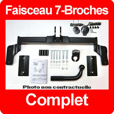 Dacia Logan 2004-2012 Berline 4 portes Attelage fixes rigide + Faisceau 7 broche