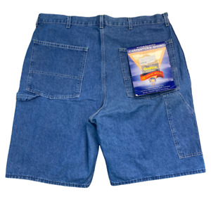 New OshKosh Mens Denim Shorts 38 x 9 Stonewashed Carpenter Blue Jean Work NWT