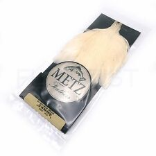 METZ HEN NECK - Grade #1 Black Cream Dun Grizzly Hackle Cape for Fly Tying NEW!