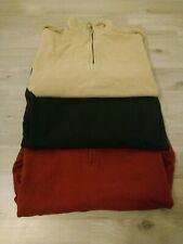 3 x Hugo Boss Pullover Langarm Shirt Herren Schwarz Größe L