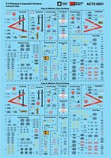 Microscale Decals 1/72 F-4 Phantom II Assorted Versions # AC720051