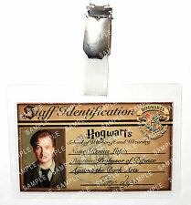 Professor Remus Lupin ID Badge Harry Potter Hogwarts Cosplay Prop Comic Con