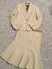 Banana Republic Wool Brown Tweed Skirt Jacket Suit Sz( Jacey-Sz 10 Skirt-Sz 8)
