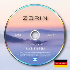 Zorin 15.3 | Linux Live-System DVD (deutsch) | eine Alternative zu Windows 7-10