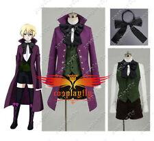 Black Butler II 2 Alois Trancy Cosplay Costume Purple Coat Vest Shorts Custom
