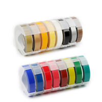 1/3pcs DYMO MOTEX Compatible 3M×9mm 3D Embossing Label Tape Various Colours