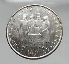 1959 SWEDEN King GUSTAV VI ADOLF Silver SWEDISH Coin CONSTITUTION Signing i63547