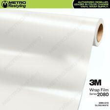 3M 2080 G10 Gloss White Vinyl Vehicle Car Wrap Decal Film Sheet Roll