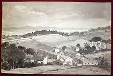 Sosson M encre sur papier signée datée 1942 Vertaizon Puy de Dôme