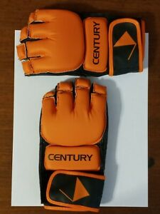 Century 2oz Orange Black Kickboxing or MMA Training Gloves * Size S / M Adult