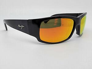 Maui Jim World Cup MJ266 Gloss Black Frame Fuse Gold Mirror Polarized Sunglass
