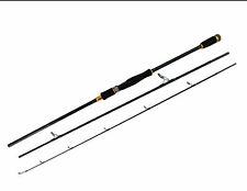 Saltwater Carbon 3 Section Travel Spinning Rod Fast Action Heavy 10-20lb 3/8-1oz