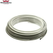 10mm Plastic Coated Microbore Copper Tube, 10 metres Coil, White