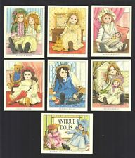 CIGARETTE/TRADE/CARDS. Golden Era. ANTIQUE DOLLS. (1996). (Full Set of 7)