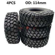 """4PCS OFF ROAD ROCK 1.9"""" TIRES 114mm TRACKS FOR AXIAL SCX10 JEEP WRANGLER TRX-4"""