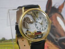 horse, caduceus, stethoscope and syringe Veterinarian or Vet Tech Watch with