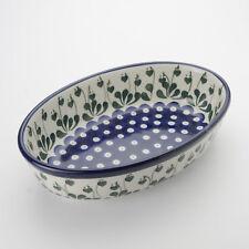 Polish Pottery 24cm Oval Dish Love Leaf