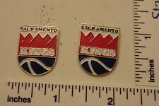 TWO Old 1989 Limited Edition NBA Basketball Pins - Sacramento KINGS