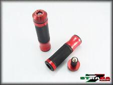 Kawasaki ZX12R ZRX1100 1200 ZXR400 Strada 7 CNC Grips & Bar Ends Combo Red