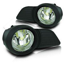 2011-2015 Toyota Sienna Fog Lamps w//Wiring Kit /& High Power COB LED Bulb Clear