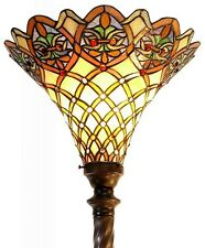Tiffany Style Floor Lamps Living Room Mission Victorian Torchiere Stained Glass