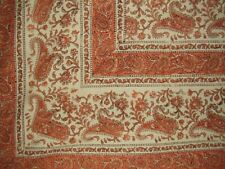 "Rajasthan Block Print Paisley Tapestry Cotton Bedspread 108"" x 88"" Full-Queen"
