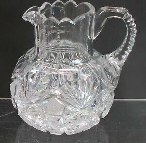 Creamer American Brilliant Period Cut Glass Antique