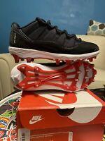 "Nike Air Jordan XI 11 Retro Low TD ""Bred"" Football Cleats Men's Size 8"
