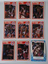 1989-90 Fleer Detroit Pistons Team Set Of 9 Basketball Cards